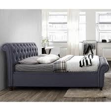 Birlea Ottoman Upholstered Side Ottoman Bed In Charcoal By Birlea Beds C