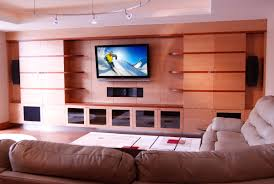 Living Room Theater Home Design Ideas - Living room with home theater design