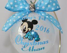 Baby S First Christmas Bauble With Name by Baby U0027s First Christmas Ornament Personalized With Year And Baby U0027s