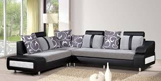 Designer Sectional Sofas by Living Room Contemporary Black Sectional Sofa With Grey Fabric
