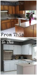 how i painted my dated 1970s oak cabinets and brought them back