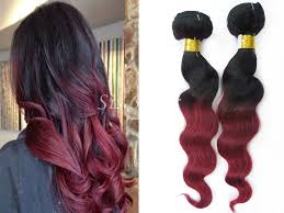remy hair extensions 1 bundle 8a ombre remy hair wave t1b burgundy