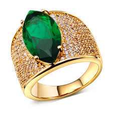 gold rings stones images High fashion jewelry big stone rings with cubic zircon color stone jpg
