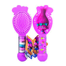 bobbles hair trolls hair brush and 6 hair bobbles at wilko