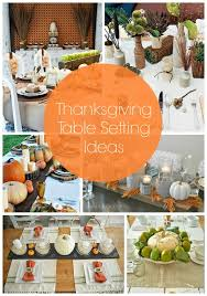 thanksgiving table setting ideas thanksgiving table settings