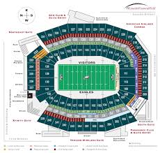 seating bowl diagram lincoln financial field