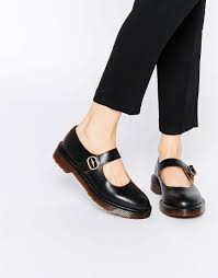 doc martens womens boots sale lyst dr martens archive indica flat shoes in black