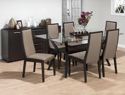 glass dining table with 6 chairs home and furniture