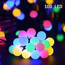amazon com lalapao globe string lights outdoor christmas