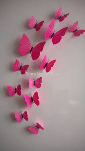 12pcs 3d monochrome butterfly wall stickers with adhesive art 12pcs 3d monochrome butterfly wall stickers with adhesive art decal satin paper butterflies home diy decor removable in wall stickers from home garden on