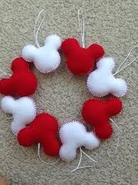 Felt Heart Christmas Ornaments Mickey Mouse Felt Ornament Set Of 4