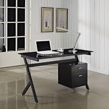 Black Glass Computer Desks For Home Black Glass Computer Desk Home Modern Design Black Glass