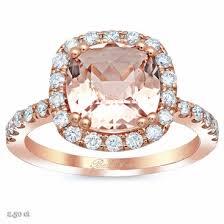 morganite gold engagement ring cushion morganite halo gold engagement ring