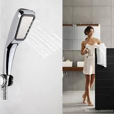 2017 shower head pressurized water saving 300 hole chrome abs