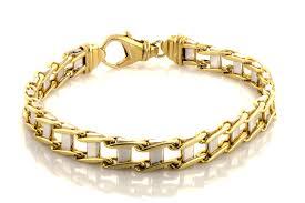 links style bracelet images Men 39 s 8 3 4 two tone link bracelet jt exchange jpg