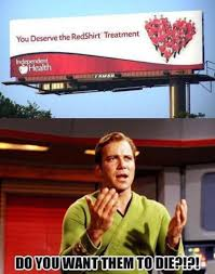 Redshirt Meme - funny meme about red shirt trope