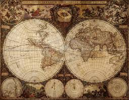 World Map On Wood Planks by Vintage World Maps Textures
