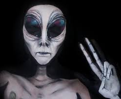 Halloween Makeup Me by Alien Makeup Tutorial Youtube