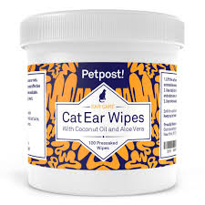 cat ear wipes natural coconut oil and aloe vera ear cleaner