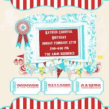 how to make carnival birthday invitations templates free