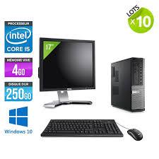 pc de bureau occasion lot de 10 pc occasion dell 790 desktop ecrans 17 i5 4go