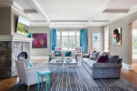 Turquoise And Grey Living Room Living Room Attractive Turquoise Paint Color Fireplace Wall