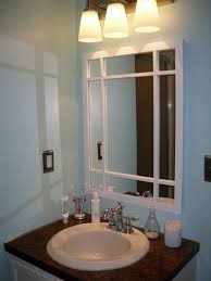 bathroom crown molding ideas painting grey wall color wood mirror for small bathroom ideas