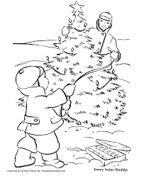 christmas tree coloring pages lighting the outdoor christmas
