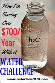 Water Challenge How I M Saving 700 Year With A Water Challenge Notorious
