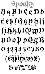 free spooky font styles the pinterest spooky font