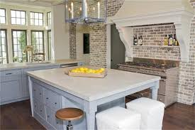 brick backsplashes for kitchens impressing kitchen white exposed brick backsplash design ideas at