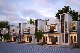 Row House Front Elevation - gated community villas vijayanagara mysore one