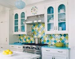 Colorful Kitchen Ideas Colorful Kitchen Design Ideas With Kitchen Backsplash And White