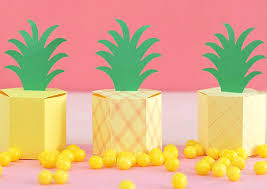 gift box template diy pineapple treat boxes consumer crafts