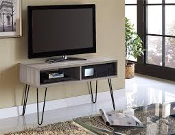 Small Bedroom Tv Stand 30 Inches Wide Amazon Com Altra Owen 42 U201d Retro Tv Stand Sonoma Oak Gunmetal