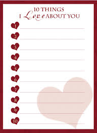 10 things i love about you free printable to share