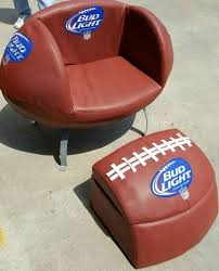 bud light football chair u0026 ottoman cooler for sale in cypress tx