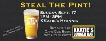 Cape Cod Brewery Hyannis - kkaties hyannis steal the pint night 9 17 cape cod beer cape