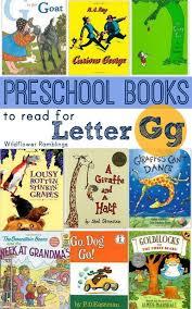 preschool books for the letter g