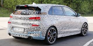 2018 hyundai i30 n spied nearing production photos 1 of 6