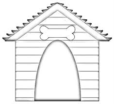 best photos of dog house template dog house coloring pages