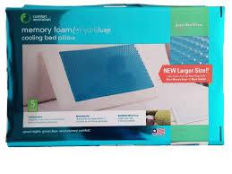 foam bed pillow comfort revolution hydraluxe gel memory foam bed pillow home