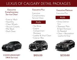 lexus service pick up lexus car detailing service in calgary