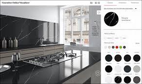 kitchen cabinet color simulator visualizer colors combinator of cosentino