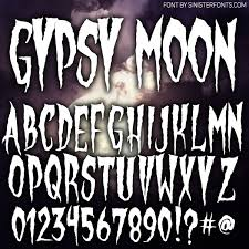 countdown to halloween u0026 inktober day4 new font gypsy moon