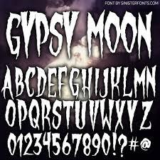 countdown to halloween u0026 inktober day4 new font gypsy moon