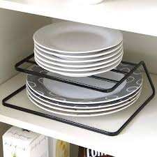 wall storage shelf drain board dishes filter plate rack kitchen