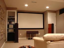 home theater in basement small home theater ideas brown wooden floor recessed ceiling ligh