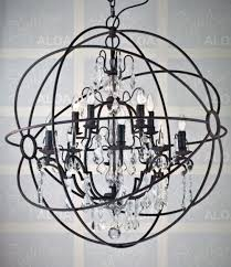 Orb Chandeliers Orb Chandelier With Crystals Regard To Invigorate Clubnoma