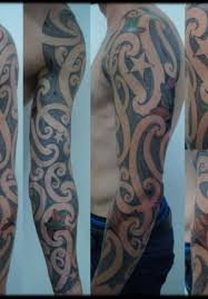 custom sleeve ta moko with color walnut leaves zealand